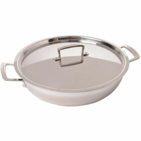 Le Creuset 3 Ply Stainless Steel Shallow Casserole