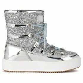 Chiara Ferragni  Après-ski Chiara Ferragni Eyes Flirting in mirrored leather  women's Snow boots in Silver