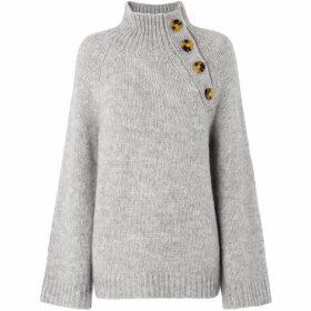 Whistles Button Neck Alpaca Knit