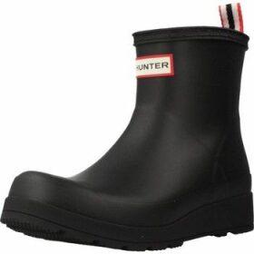 Hunter  PLAY SHORT  women's Wellington Boots in Black