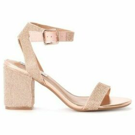 Steve Madden  Malia heeled sandal in rose gold vegan leather with  women's Sandals in Gold
