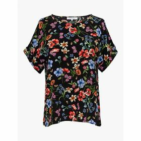 Gerard Darel Netty Floral Blouse, Black/Multi