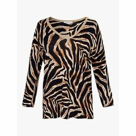 Gerard Darel Erisilia Linen Cotton Animal Top, Brown