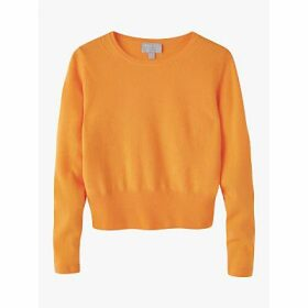 Pure Collection Cropped Cashmere Jumper, Apricot