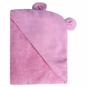 Minene Pink Animal Hooded Towel