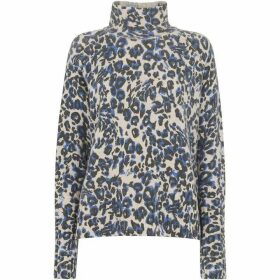 Whistles Jungle Cat Wool Funnel Neck