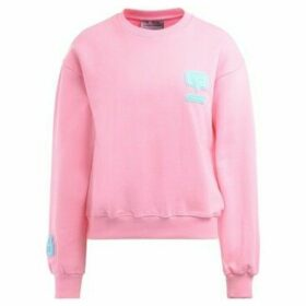 Chiara Ferragni  Chiara Ferrani pink sweatshirt with eyelike patch  women's Sweatshirt in Pink