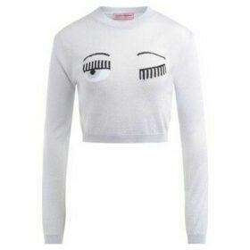 Chiara Ferragni  Chiara Ferragni silver lurex sweater  women's Sweatshirt in Silver