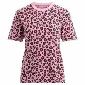 Chiara Ferragni  Chiara Ferragni Leopard t-shirt in pink printed cotton  women's T shirt in Pink