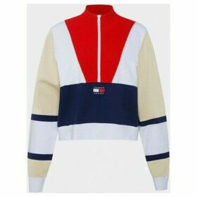 Tommy Jeans  DW0DW07994 COLORBLOCK LOGO  women's Sweater in Multicolour