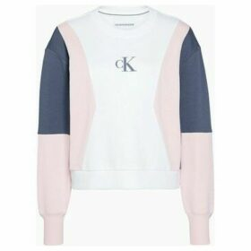 Calvin Klein Jeans  J20J213478 COLOR BLOCK CREW  women's Sweatshirt in White