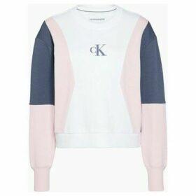 Calvin Klein Jeans  J20J213478 COLOR BLOCK CREW  women's Sweatshirt in White