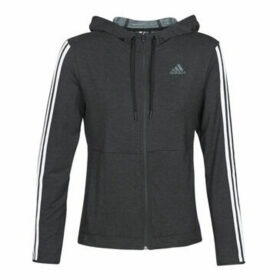 adidas  3S KNT FZ HOODY  women's Sweatshirt in Black
