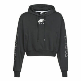 Nike  W NSW AIR HOODIE FLC BB  women's Sweatshirt in Black