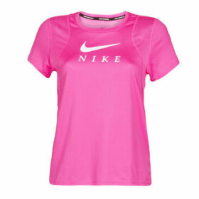 Nike  W NK RUN TOP SS GX  women's T shirt in Pink