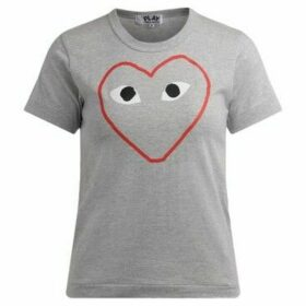Comme Des Garcons  T-Shirt in gray cotton with empty  women's T shirt in Grey