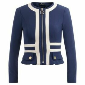 Elisabetta Franchi  short jacket in navy blue with ivory  women's Jacket in Other