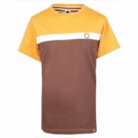 Pretty Green Front Colour Block T-Shirt