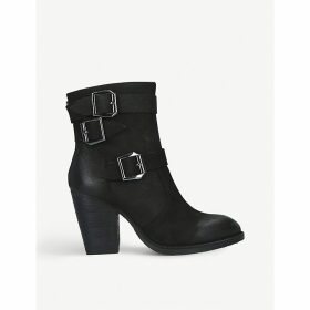 Ya leather heeled ankle boots