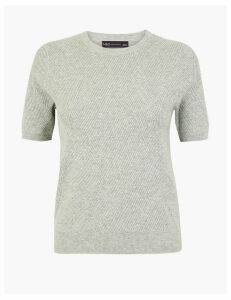 M&S Collection Diamond Stitch Knitted Top