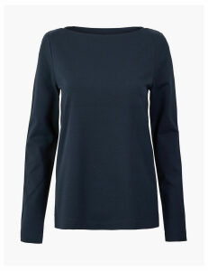M&S Collection Ponte Long Sleeve Top