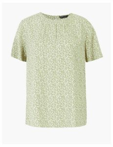 M&S Collection Printed Woven Blouse
