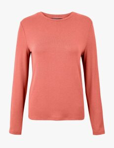 M&S Collection Cosy Straight Fit Long Sleeve Top