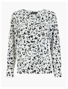 M&S Collection Printed Regular Fit Popover Blouse
