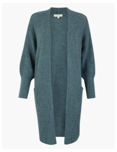 Per Una Textured Relaxed Fit Longline Cardigan