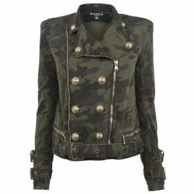 Balmain Camo Biker Jacket