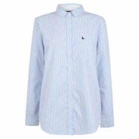 Jack Wills Guilden Stripe Boyfriend Shirt - Pale Blue