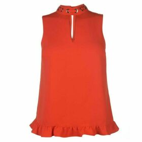Guess Guess Frill Top - Rhubarb