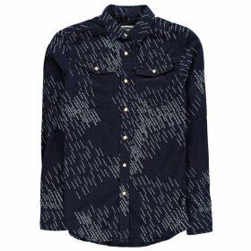 G Star Printed Shirt Mens - rinsed