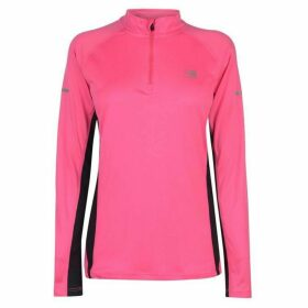 Karrimor Quarter Zip Long Sleeve Top Ladies -  Fluo Pink