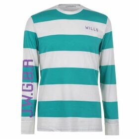 Jack Wills Bexley Longsleeve Stripe T-Shirt - Light Teal