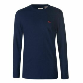 Levis Levis Small Logo T Shirt Mens - Navy
