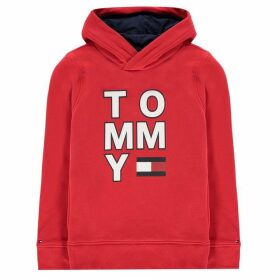 Tommy Hilfiger Over The Head Hoodie - Racing Red