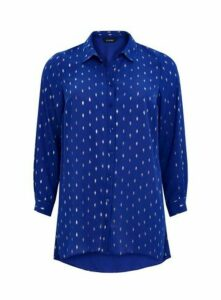 Blue Foil Shirt, Cobalt