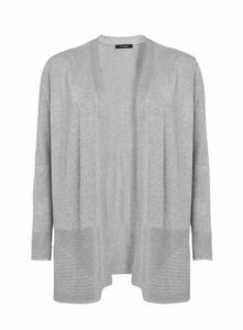 Grey Side Split Cardigan, Others