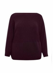 Womens **Dp Curve Purple Batwing Jumper - Red, Red