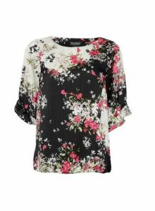 Womens Billie & Blossom Multi Colour Floral Print Mix And Match Top - Black, Black
