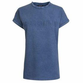 Balmain Embossed Logo T Shirt