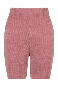Womens Tall Chenille High Waisted Cycle Shorts - Pink - 16, Pink