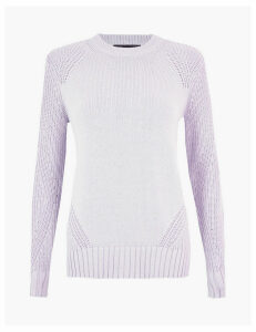 M&S Collection Pure Cotton Round Neck Jumper