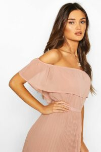 Womens Chiffon Ruffle Off Shoulder Mix And Match Top - Pink - 10, Pink