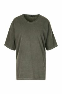 Womens Neon Washed Oversized T-Shirt - grey - M, Grey