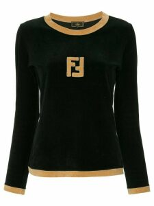 Fendi Pre-Owned FF logo longsleeved top - Black