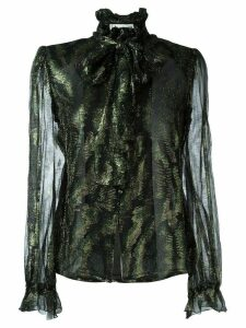 Jean Louis Scherrer Pre-Owned pussybow blouse - Black