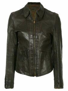 Fake Alpha Vintage 1940s Good Design leather jacket - Brown
