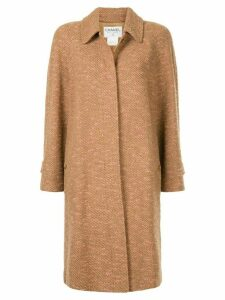 Chanel Pre-Owned 1997 loose fit midi coat - Brown